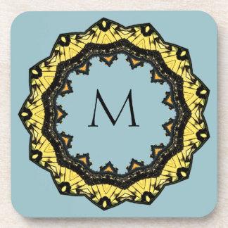 Kaleidoscope Sky Monogram Coasters