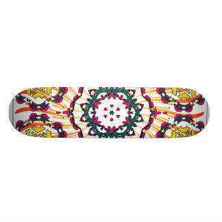 Kaleidoscope & Spiral Design: Custom Skateboard