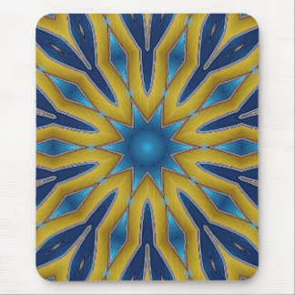 Kaleidoscope Star Mouse Pad