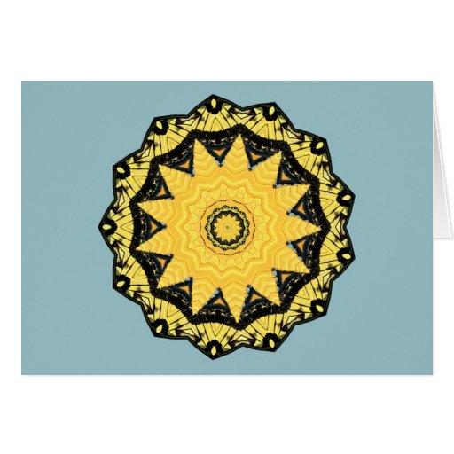 Kaleidoscope Sun and Sky Note Card