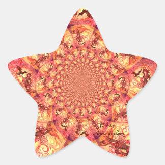 Kaleidoscope Sun Elf Star Sticker