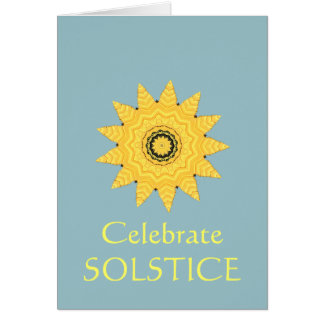 Kaleidoscope Sun Summer Solstice Invitation Card