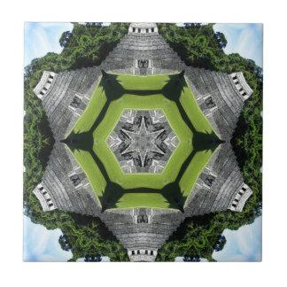 Kaleidoscope Temple of Inscriptions Ceramic Tile