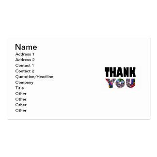 Kaleidoscope Thank You Business Card Templates