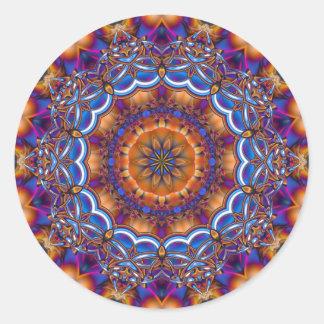 Kaleidoscope Three Classic Round Sticker