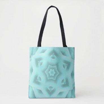 McTiffany Tiffany Aqua Kaleidoscope Tiffany Blue Stars Tote Bag