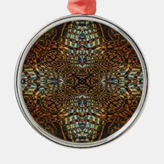 Kaleidoscope tiger fur pattern metal ornament