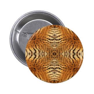 Kaleidoscope Tiger Fur Pattern Pinback Button