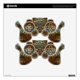 Kaleidoscope tiger fur pattern skins for PS3 controllers