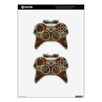 Kaleidoscope tiger fur pattern xbox 360 controller decal