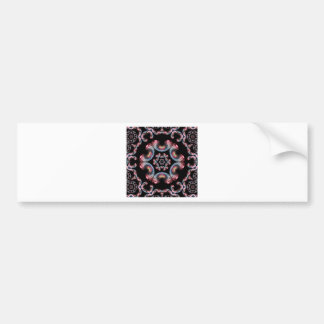 Kaleidoscope tile black bumper sticker