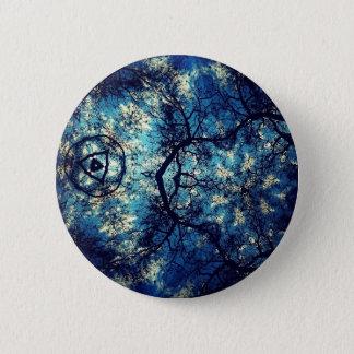 Kaleidoscope Trees Sky Pinback Button