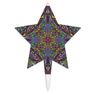Kaleidoscope triangles cake topper
