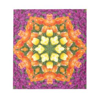 Kaleidoscope Tulips Notepad