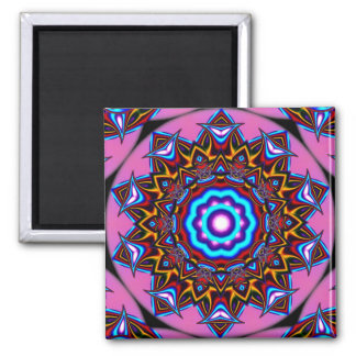 Kaleidoscope Two 2 Inch Square Magnet