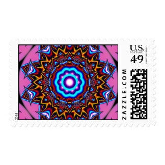 Kaleidoscope Two Postage Stamps