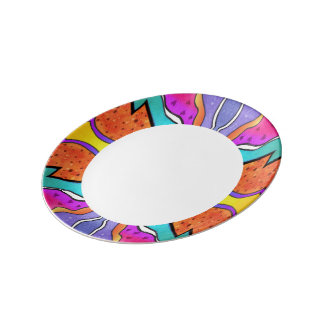 KALEIDOSCOPE WATERCOLOR DINNER PLATE