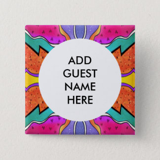 KALEIDOSCOPE WATERCOLOR PINBACK BUTTON