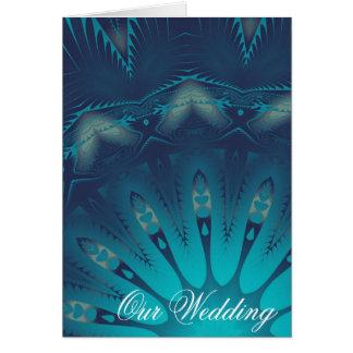 Kaleidoscope Wedding Invitation Greeting Card