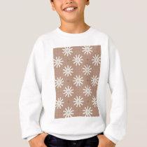 Kaleidoscope White Flowers on Beige Pattern Sweatshirt