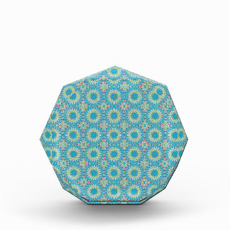 Kaleidoscope with shades of blue award
