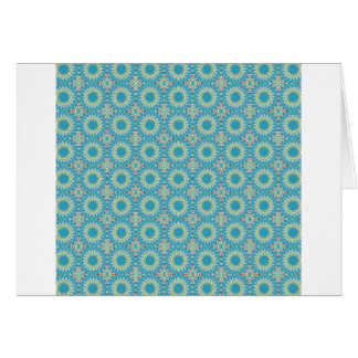 Kaleidoscope with shades of blue card