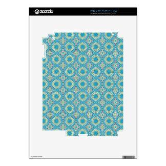 Kaleidoscope with shades of blue iPad 2 skin