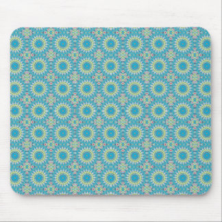 Kaleidoscope with shades of blue mousepads