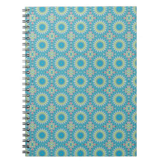 Kaleidoscope with shades of blue notebook