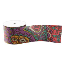 Kaleidoscope Yoga Pattern Grosgrain Ribbon