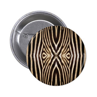 Kaleidoscope Zebra Fur Pattern Pinback Button
