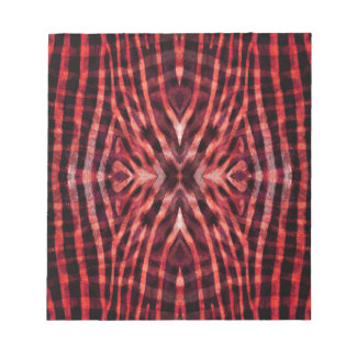 Kaleidoscope Zebra Skin Pattern Notepad