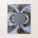 Kaleidoscoped 7 Foot Knoll Lighthouse Jigsaw Puzzle