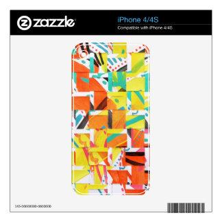 kaleidoscopelarge iPhone 4 calcomanía