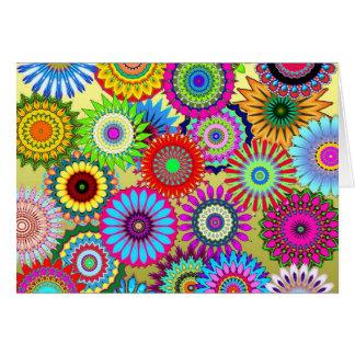 kaleidoscopes colorful Pattern design Card