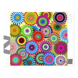 kaleidoscopes colorful Pattern design Postcard