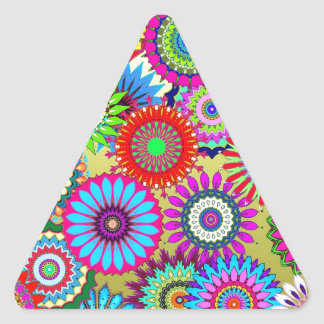 kaleidoscopes colorful Pattern design Triangle Sticker