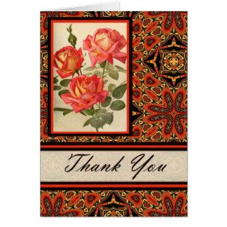 Kaleidoscopes & Roses Thank You Card 875