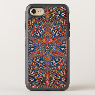 Kaleidoscopic Armenian Carpet In Red and Blue OtterBox Symmetry iPhone 8/7 Case