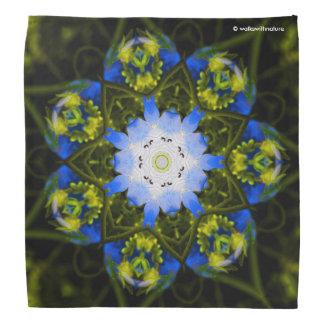 Kaleidoscopic Baby Blue Eyes Bandana