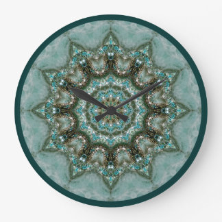 Kaleidoscopic Bling Round Clock