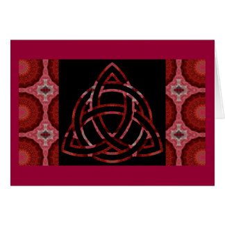 Kaleidoscopic Celtic Knot  Design - Card.1 Card