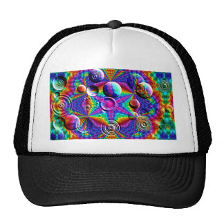 Kaleidoscopic Colors and Bubbles Trucker Hat