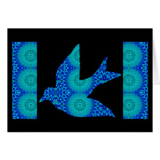 Kaleidoscopic Dove Greeting 1 Card