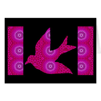 Kaleidoscopic Dove Greeting 2 Greeting Card