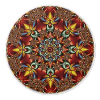 Kaleidoscopic fantasy ceramic knob