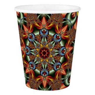 Kaleidoscopic fantasy paper cup