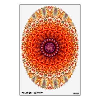 Kaleidoscopic Flower Orange And White Design Wall Decal
