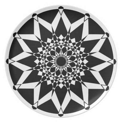 Kaleidoscopic Geometric, Dinner/Party Plate