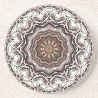 Kaleidoscopic Glassware Drink Coasters